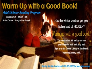 Warm Up With A Good Book Adult Winter Reading Program @ Central Library & East Branch