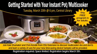 Getting Started with Your Instant Pot/Multicooker @ Central Library | Millersburg | Ohio | United States