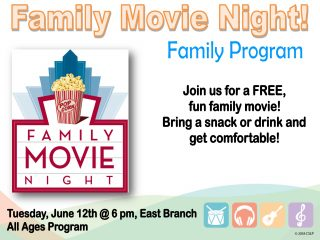 Family Movie Night @ East Branch | Walnut Creek | Ohio | United States