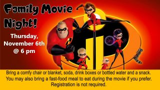 Family Movie Night @ Central Library | Millersburg | Ohio | United States